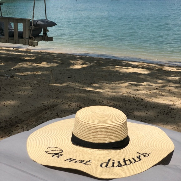 cbfce0c9107 Do Not Disturb straw beach hat